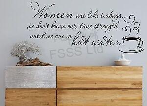 WOMEN LIKE TEABAGS MLG ELEANOR ROOSEVELT INSPIRATIONAL QUOTE WALL ART DIY HOME