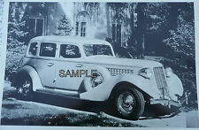 1935 Auburn 4 Door Sedan With Side Mount Tire 12 X 8 Black & White Picture