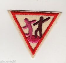 Retired Girl Scouts Brownie Try It 1980-1999 ~Red Border ~Dance