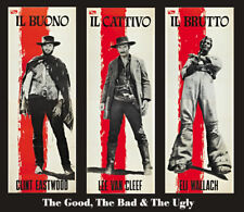 The good the bad & the ugly #42 cult western movie poster print