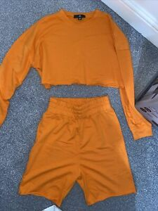 Missguided Orange Lounge Coord Set Size 8