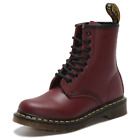 Dr Martens 8-Eye 1460 Airwair Cherry Red Smooth Leather Boots Unisex UK3-11 New