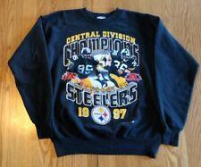 Vintage Pittsburgh Steelers NFL 1997 Division Champions Crewneck Sweatshirt M