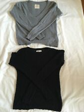 Hollister Long Sleeve Sweaters - 2 XS Juniors, Gray and Black