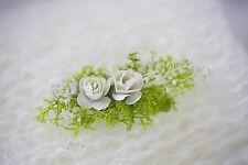 Newborn Baby Girl IVORY mohair wrap & Flower head tieback 2 Piece SET Photo Prop