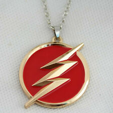 "DC Comics The Flash LOGO GOLD/RED Pendant/NECKLACE on 22"" Chain"