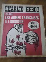 CHARLIE HEBDO N°149 ARMES MILITAIRE CHILI FRANCE WOLINSKI GEBE 17 sept 1973 CABU