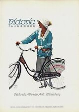 Original vintage poster print VICTORIA BICYCLES 1926 Hohlwein