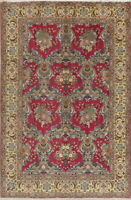 Breathtaking Vintage Wool/Silk Floral Oriental Area Rug Hand Knotted 5x7