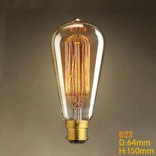 Vintage Industrial Retro Edison Filament Light Bulb Lamp 60W B22 Bayonet Cap BC