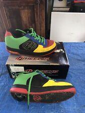 Heelys Multi Color Skate Sneakers Style 7242 Gelato Red Blue Yellow Green Sz 7