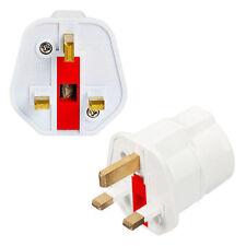 European 2 Pin to UK 3 Pin Plug Adaptor Euro EU Schuko Travel Mains Adapter UK