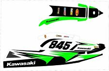 kawasaki 750 sxr sxi sx jet ski wrap graphic pwc stand up jetski decal kit green