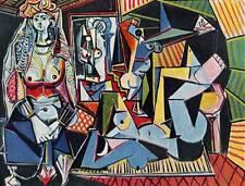 "1955 Original Picasso Vintage Colour Print ""Women of Algiers"" Book Plate"