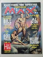 PENTHOUSE MAX COMICS MAGAZINE ELECTION '96 SPECIAL BILL & HILARY CLINTON COVER