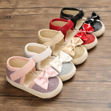 Beat Gift Baby Girl Crib Shoes Infant Child Soft Sole Princess Dress Outfit Shoe