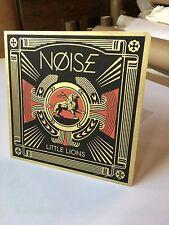 "SHEPARD FAIREY OBEY GIANT SIGNED & #/ 500 NOISE LITTLE LIONS VINYL EP 7"" 45"