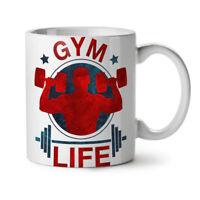 Gym Life Workout NEW White Tea Coffee Mug 11 oz | Wellcoda