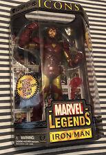"Marvel Legends Icons Iron Man 12"" 2006 Action Figure Unmasked Tony Stark New"