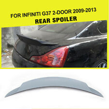 1PC Unpainted Auto Rear Boot Trunk Spoiler Wing Fit for Infiniti G37 Coupe 09-13