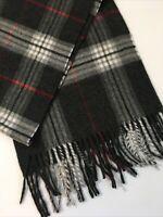 "Soft V. Fraas CASHMINK scarf wrap Black White Plaid unisex Germany 54"""