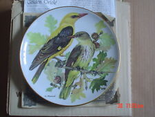 Golden Oriole Collectors Plate Boxed With Paperwork