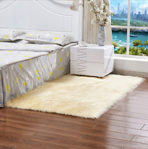 Deluxe Soft Modern Faux Sheepskin Shaggy Area Rugs Children Play Carpet