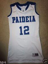 Paideia School Pythons #12 Basketball Game Used Jersey M Medium