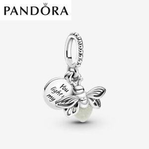 ALE S925 Genuine Silver Pandora Glow-in-the-dark Firefly Dangle Charm + Gift Box