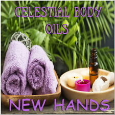 CELESTIAL OILS AROMATHERAPY NEW HANDS BODY OIL - PEPPERMINT LAVENDER + MORE OILS