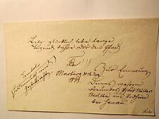 Marburg - 1813 - Stammbuch-Blatt - Widmung Müller - Corps Rhenania ?/ Studentika