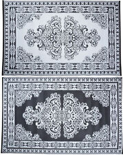 "Persian Style Outdoor Rug Recycled Plastic Garden Reversible Carpet 47"" x 73"""