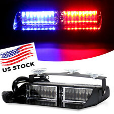 Car 16 LED RED&BLUE Strobe Light Emergency Dash Warning Police Signal Lamp