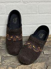 Sanita Women's Brown Wool Vegan Professional Clogs Size 37 EUR  6.5/7 US