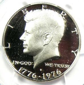 1976-S Proof Silver Kennedy Half Dollar 50C - PCGS PR70 DCAM (PF70) - $750 Value