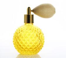 Vintage Crystal Perfume Bottle Short Spray Atomizer Glass Bottle Lady Gift 100ml