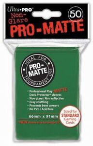 Card Supplies Non-Glare Pro-Matte Green Standard Card Sleeves [50 Count]