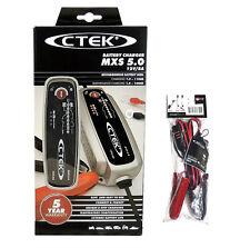 CTEK MXS 5.0 T 56-305 Cargador de baterías + Comfort indicator de Pinzas
