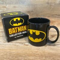 New Vintage NIB Applause DC Comics Batman Symbol Collector Mug No. 45028 In Box