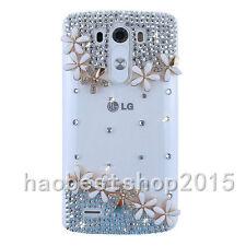 3D Handmade Glitter Luxury Bling Diamonds Pearls Hard Phone back Case Cover #F