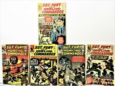LOT OF 5 SGT. FURY AND HIS HOWLING COMMANDOS 1960'S COMIC BOOKS