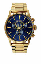 Nixon Analog Sport Watch Sentry Chronograph Gold Mens A3861922