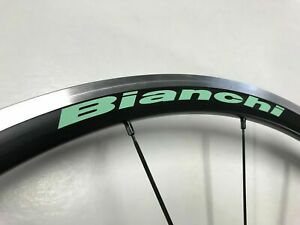 Bianchi wheel decals / stickers for 24-30mm rim Celeste or White