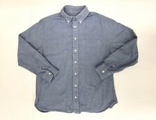 Gitman Bros Oxford Shirt Mens Large Blue Button-Down Collar Made in USA Cotton