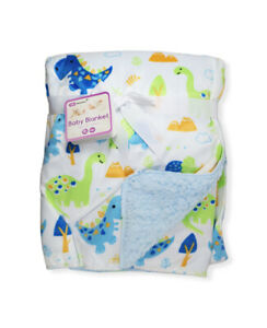 Baby Boy Girl Fleece Newborn + Blanket | 75x100cm | Pram, Cot, Moses | Dinosaur