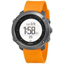Suunto Traverse Amber Silicone Unisex Outdoor Digital Watch SS021844000
