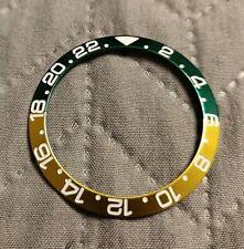 Green / Gold Ceramic Bezel Insert for Rolex GMT Master II Outer Ring