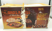 General Electric GE Broil R Grill Chrome Electric Broiler BRG 20T Vintage CIB