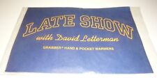 DAVID LETTERMAN Late Show 1998 Hand & Pocket Warmer Sealed Package Dave