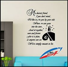 Wall Decal Sticker Quotes Sally & Jack The Nightmare Before Christmas T17